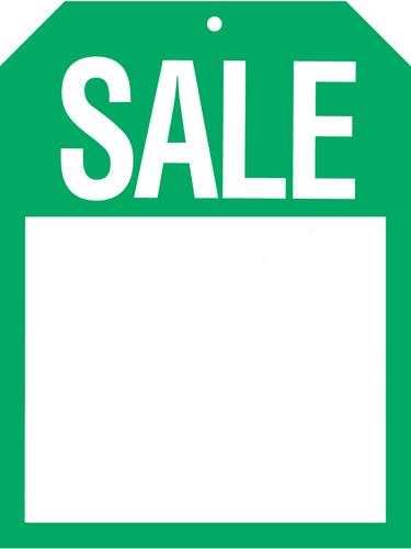 566 Green Sale Tag