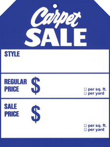 569 Carpet Sale Blue Tag