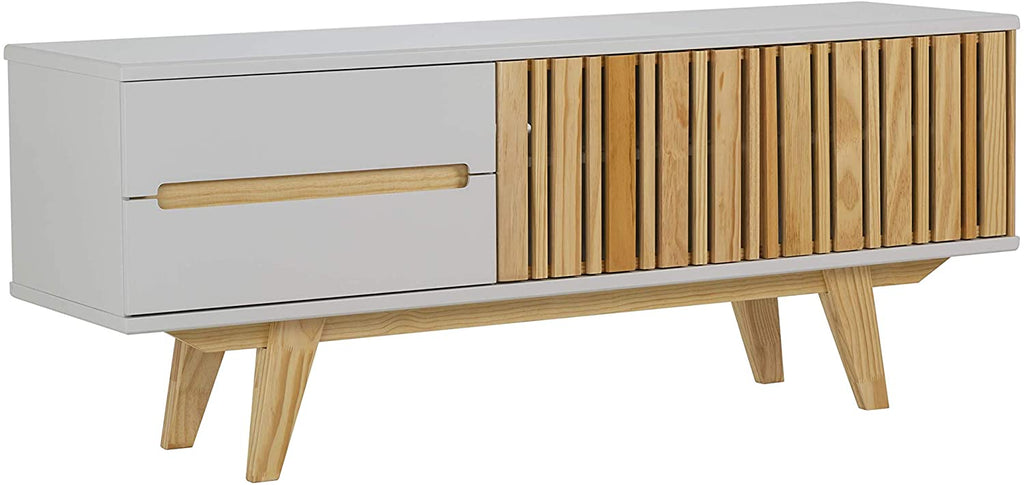 Memomad Panteon Mid Century Modern TV Stand (Off White) - memomad.store