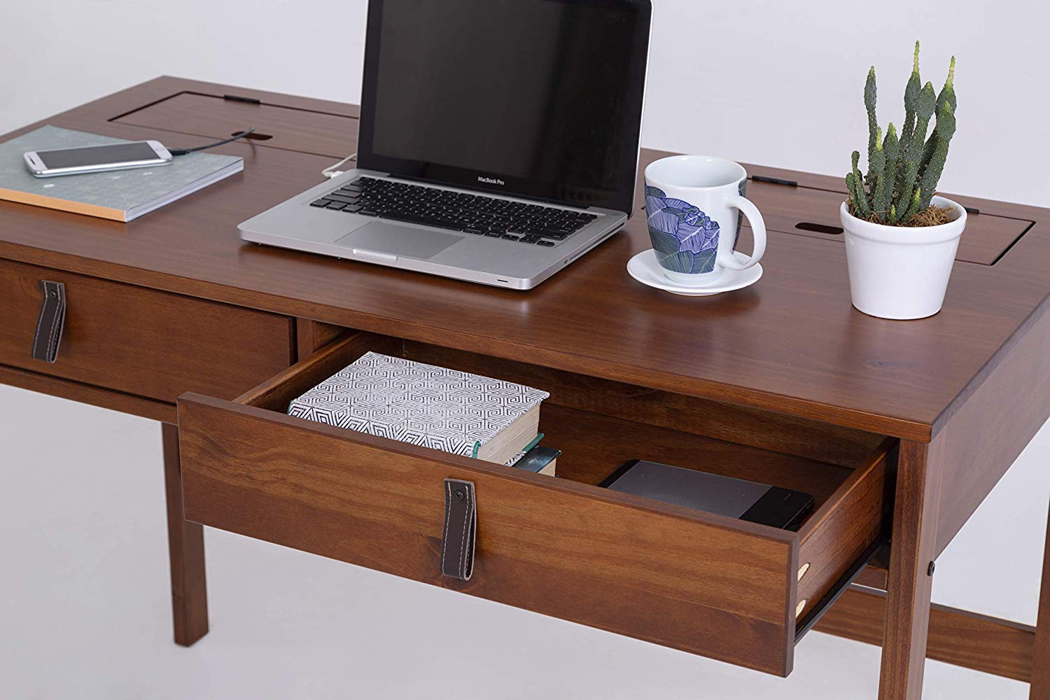 Memomad Bali Home Office Desk with Drawers (Caramel) - memomad.store