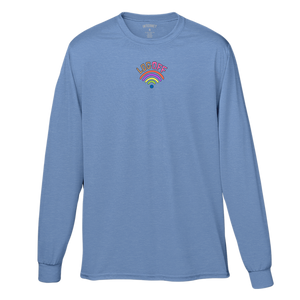 LOG OFF TEE - FLO BLUE