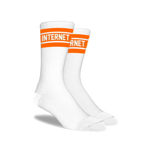 ORANGE LOGO SOCKS