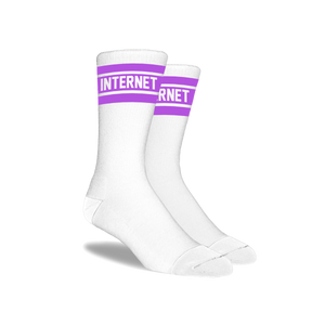 PURPLE LOGO SOCKS