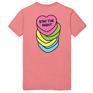 STAY THE NIGHT TEE - GUAVA