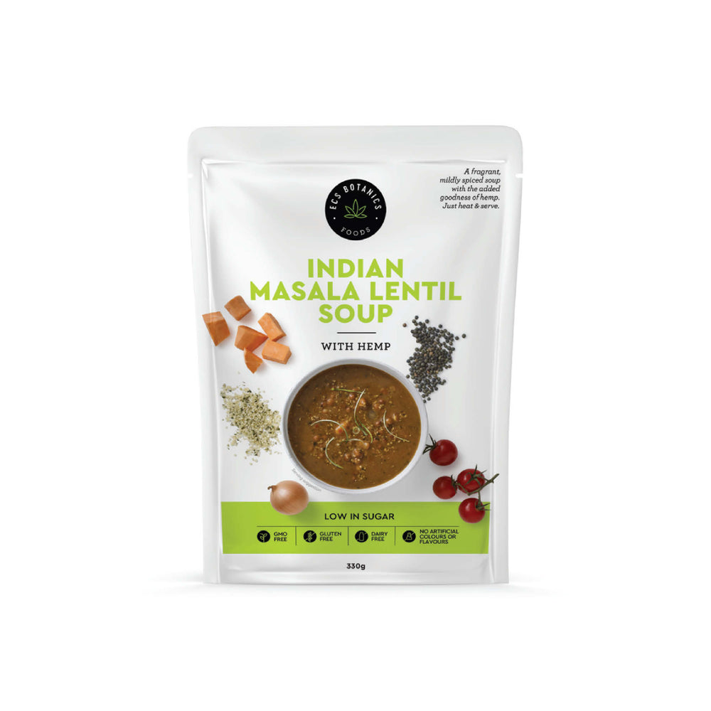 ECS Botanics - Indian Masala Lentil Soup with Hemp