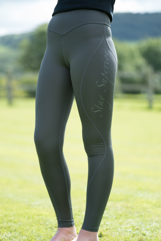 Grey Technical Training Leggings