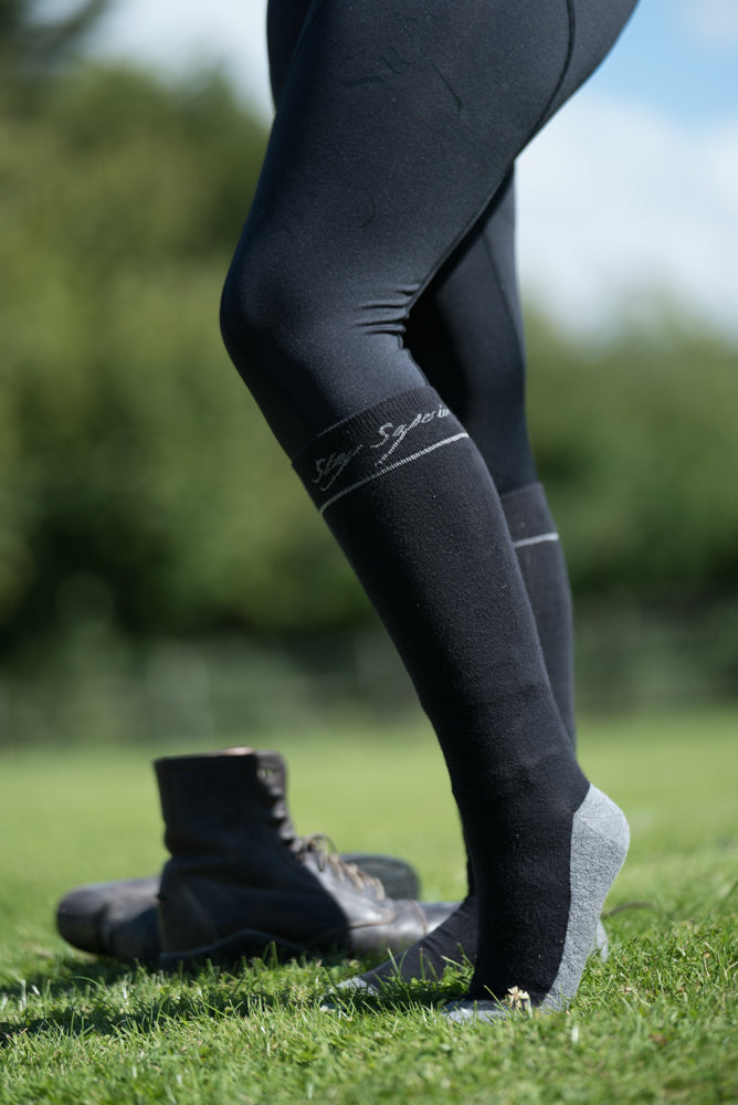 Black Training Socks