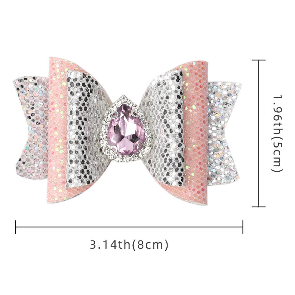 Rhinestone and Glitter Hair Bows