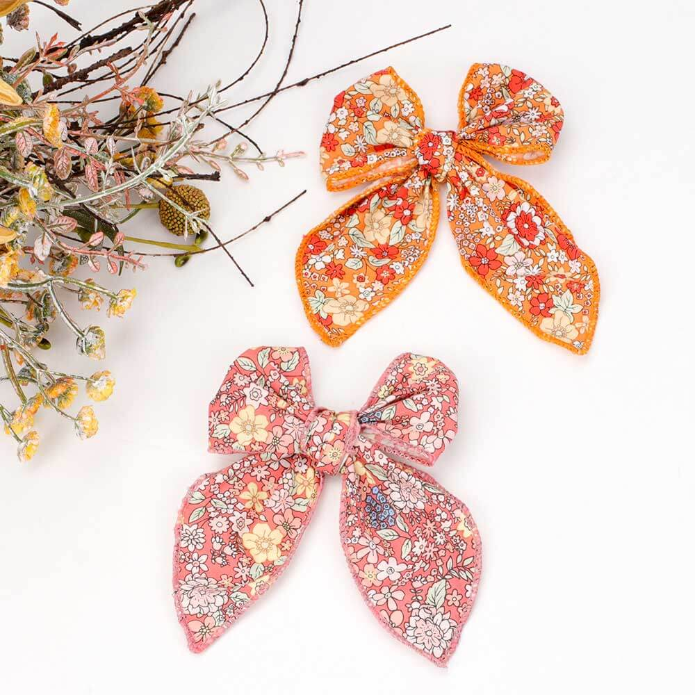 Floral Oversized Hair Bows