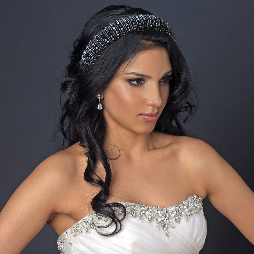 Women Rhionestone Baroque Headband