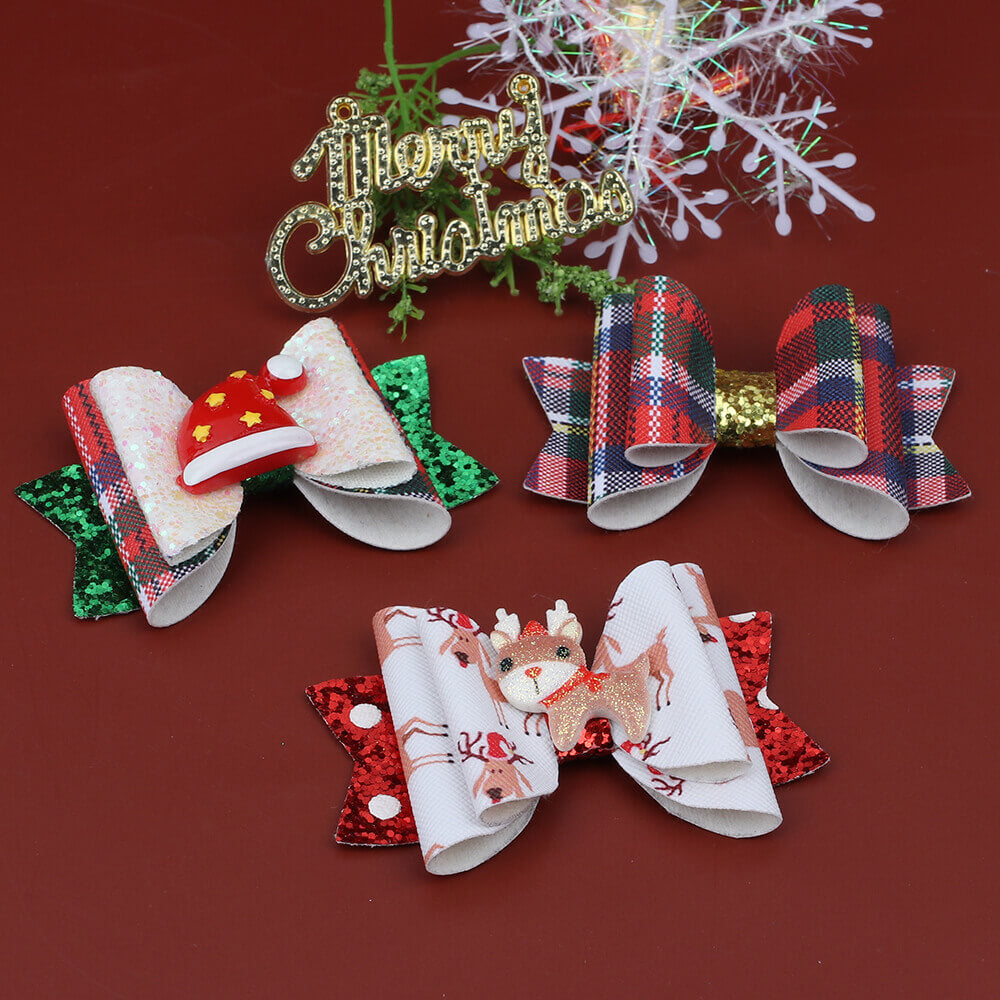 Christmas Hat Hair Clips