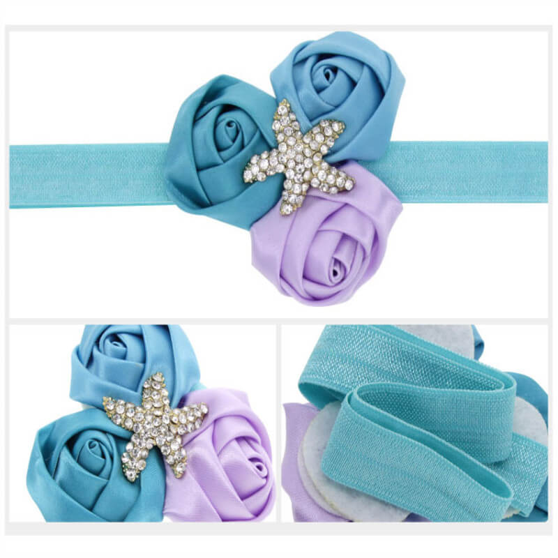 Starfish and Flower Headband for Babies