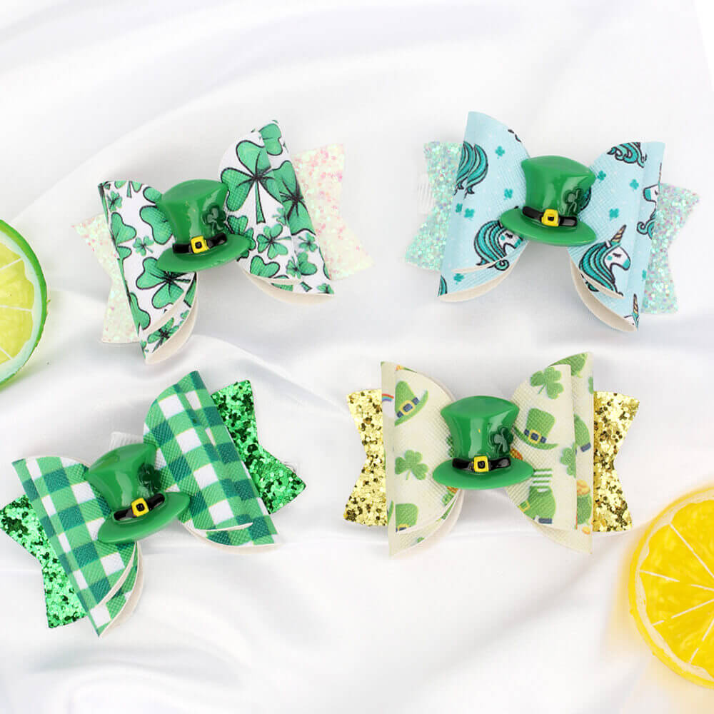 St. Patrick's Green Hair Clips