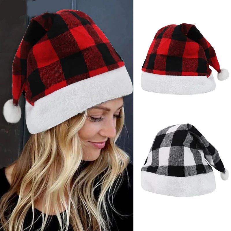 Christmas Plaid Hats