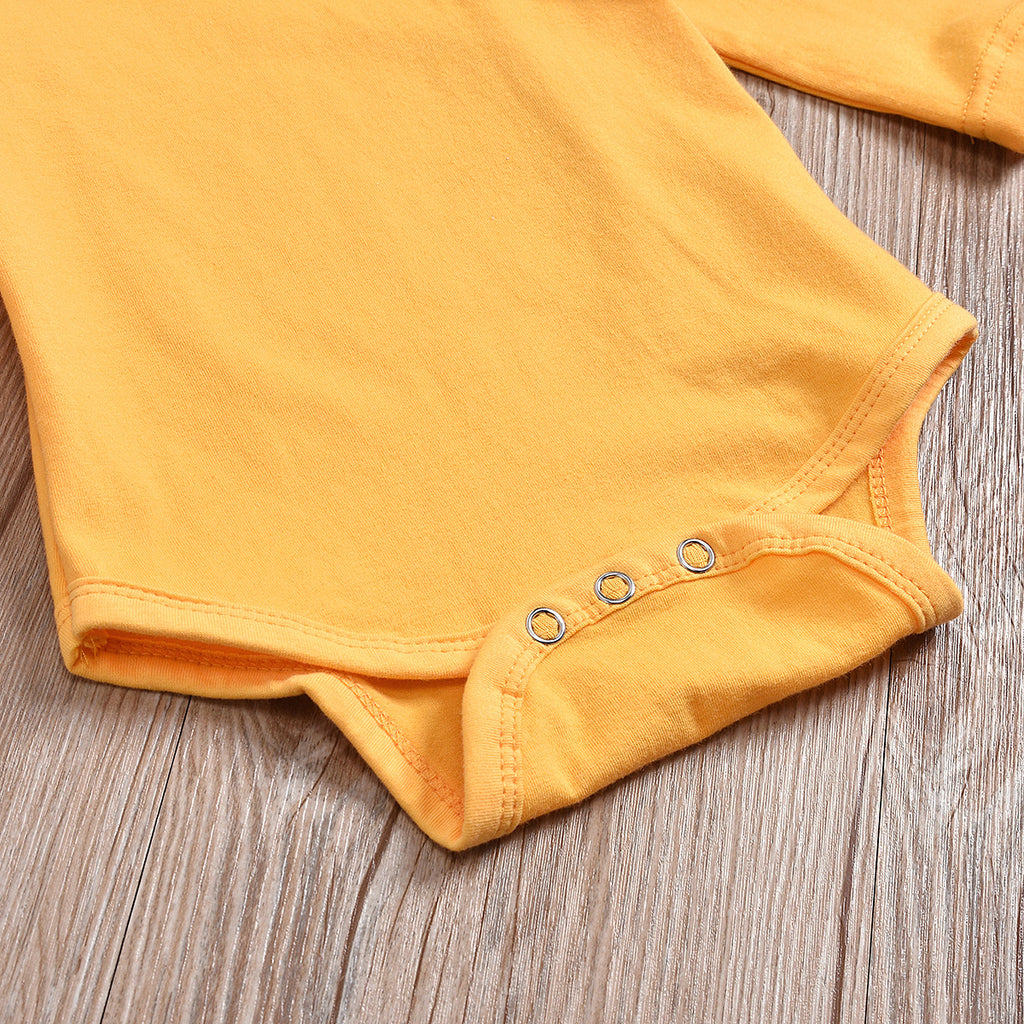 Bright Sunflower Baby Romper Set