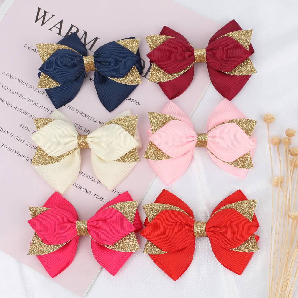 layered hair bows
