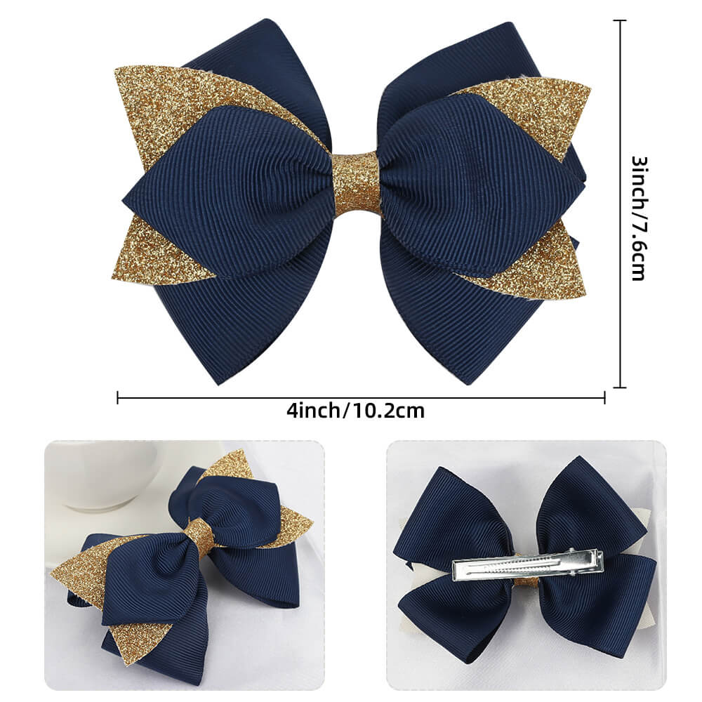 Glitter Grosgrain Girl Hair Bows
