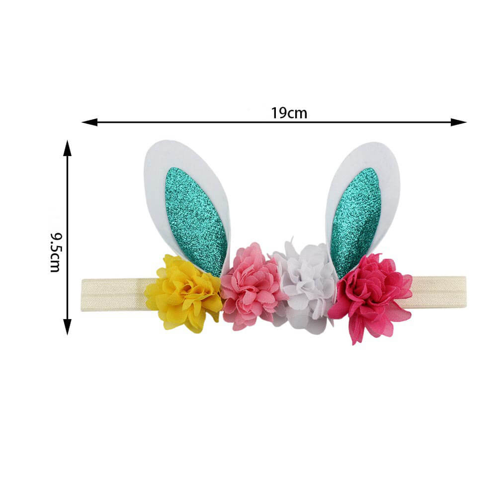 Easter Bunny Floral Baby Headbands
