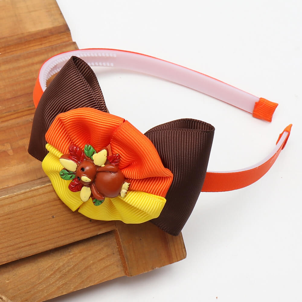 Thanksgiving Turkey Bows Headband
