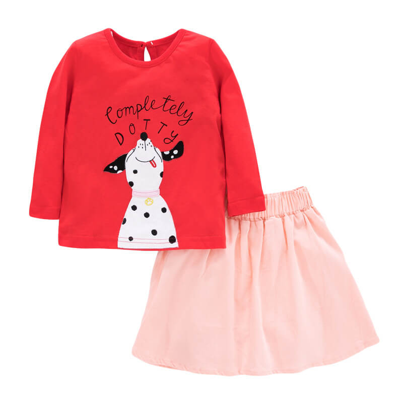 Cartoon Girls' Short Skirt Suit