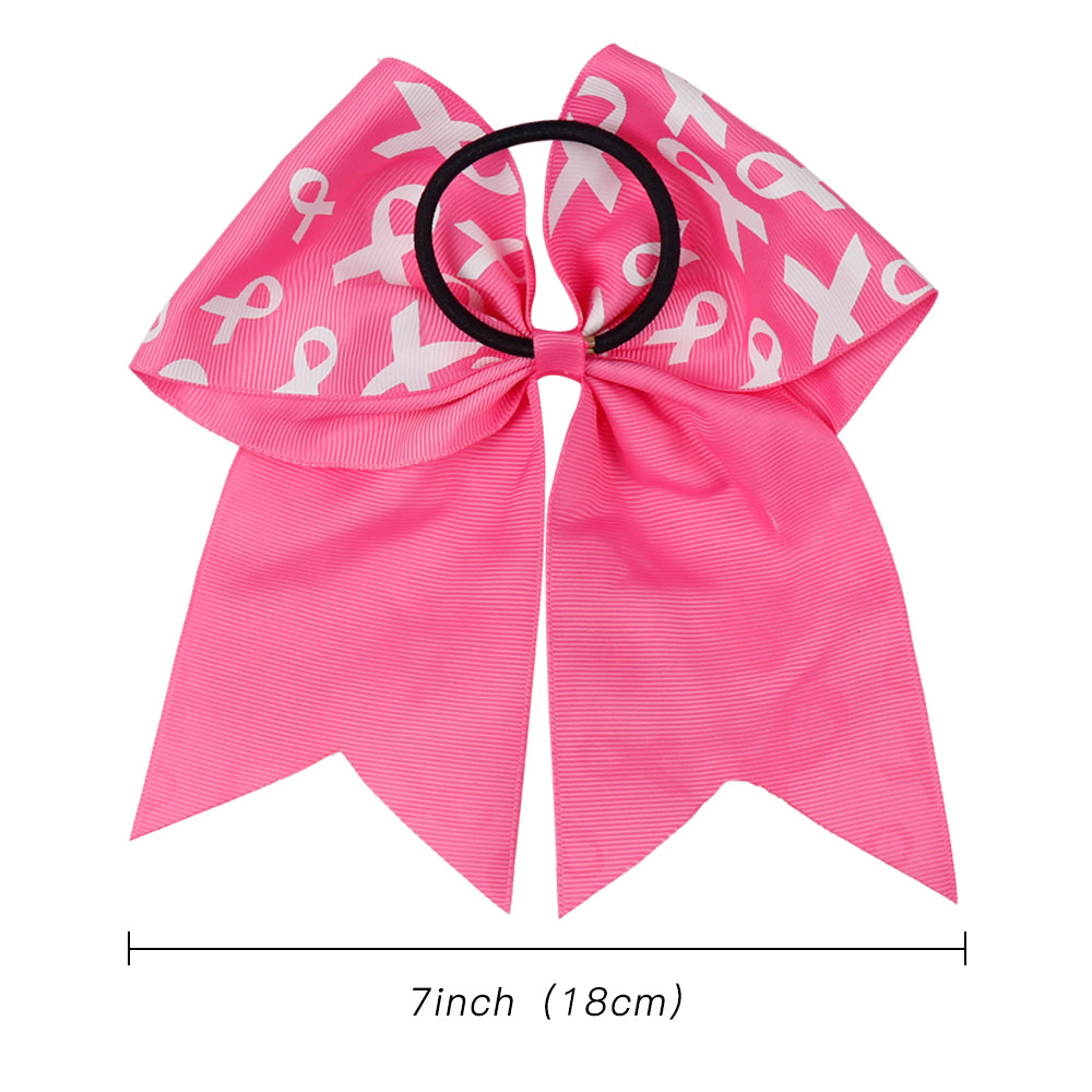 Pink Ribbon Breast Cancer Awareness Cheer Bows