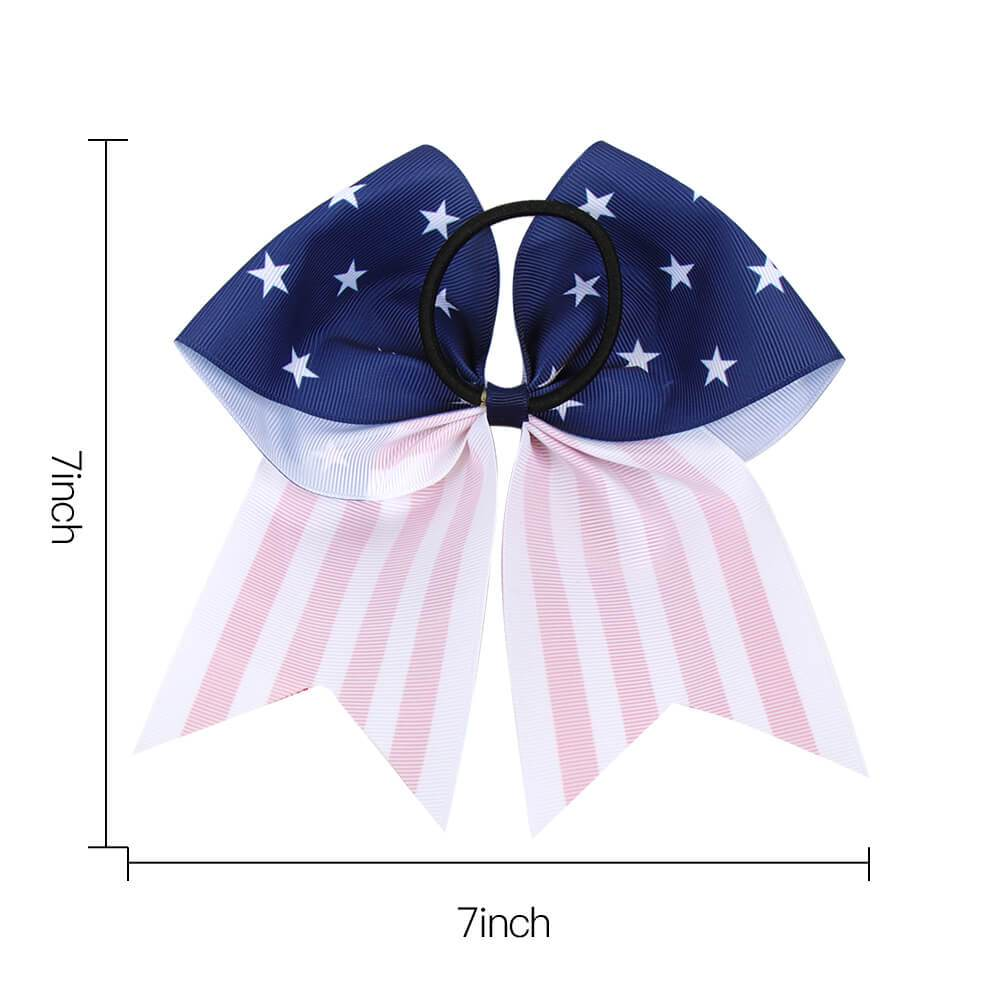 12pcs 4th of July Grosgrain Cheer Bow