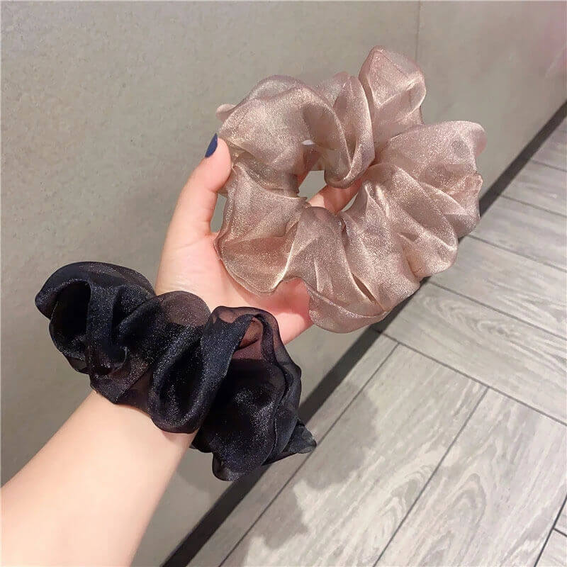 Bright Mesh Hair Scrunchies