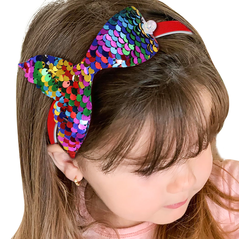 Reversible Sequin Mermaid Hairband
