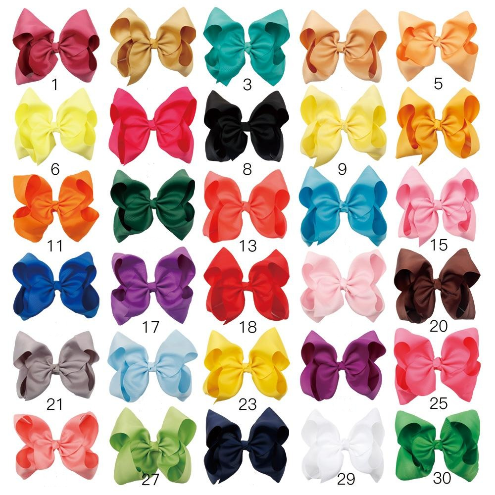 30pcs 8 inch Jumbo Hair Bows | Big Hair Bows for Girls 60 Color