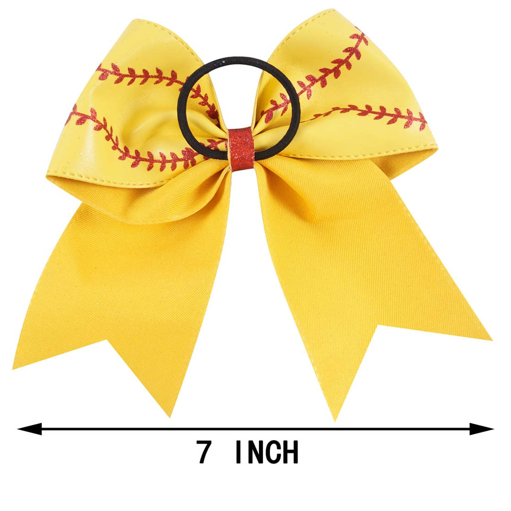 Baseball Leather Cheer Bows