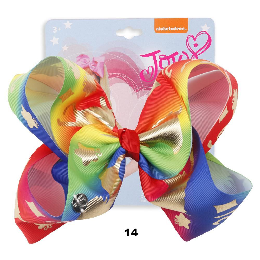Rainbow Rhinestone Jojo Hair Bows