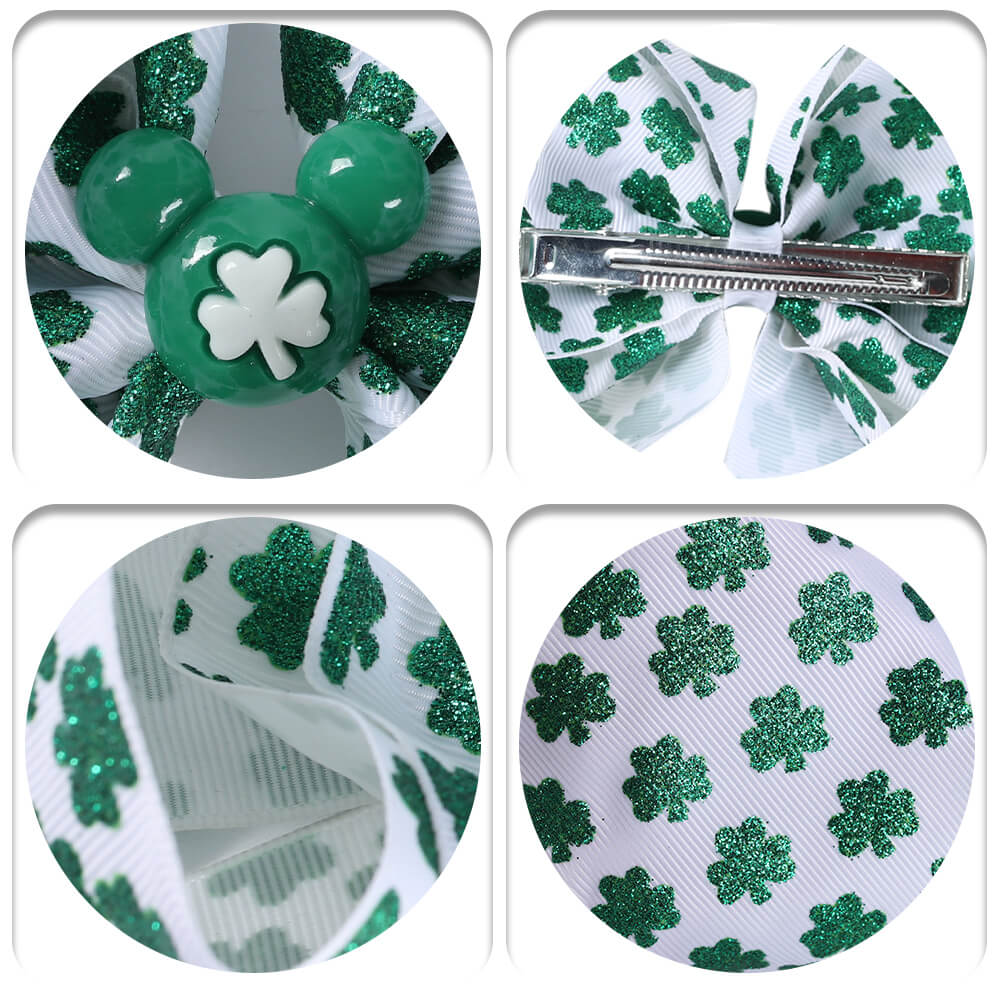6'' Shamrock Hair Bow