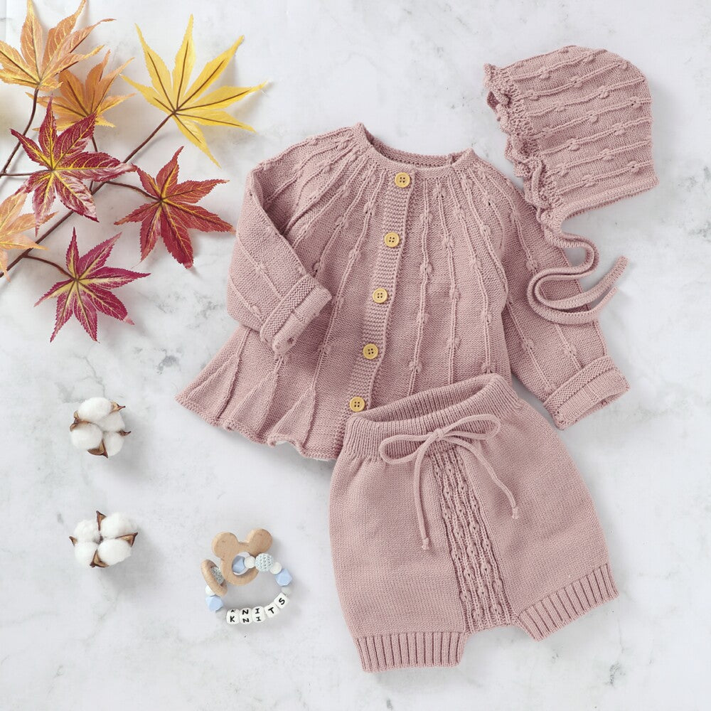 Baby Outerwear Pants Hats Three-piece Suit