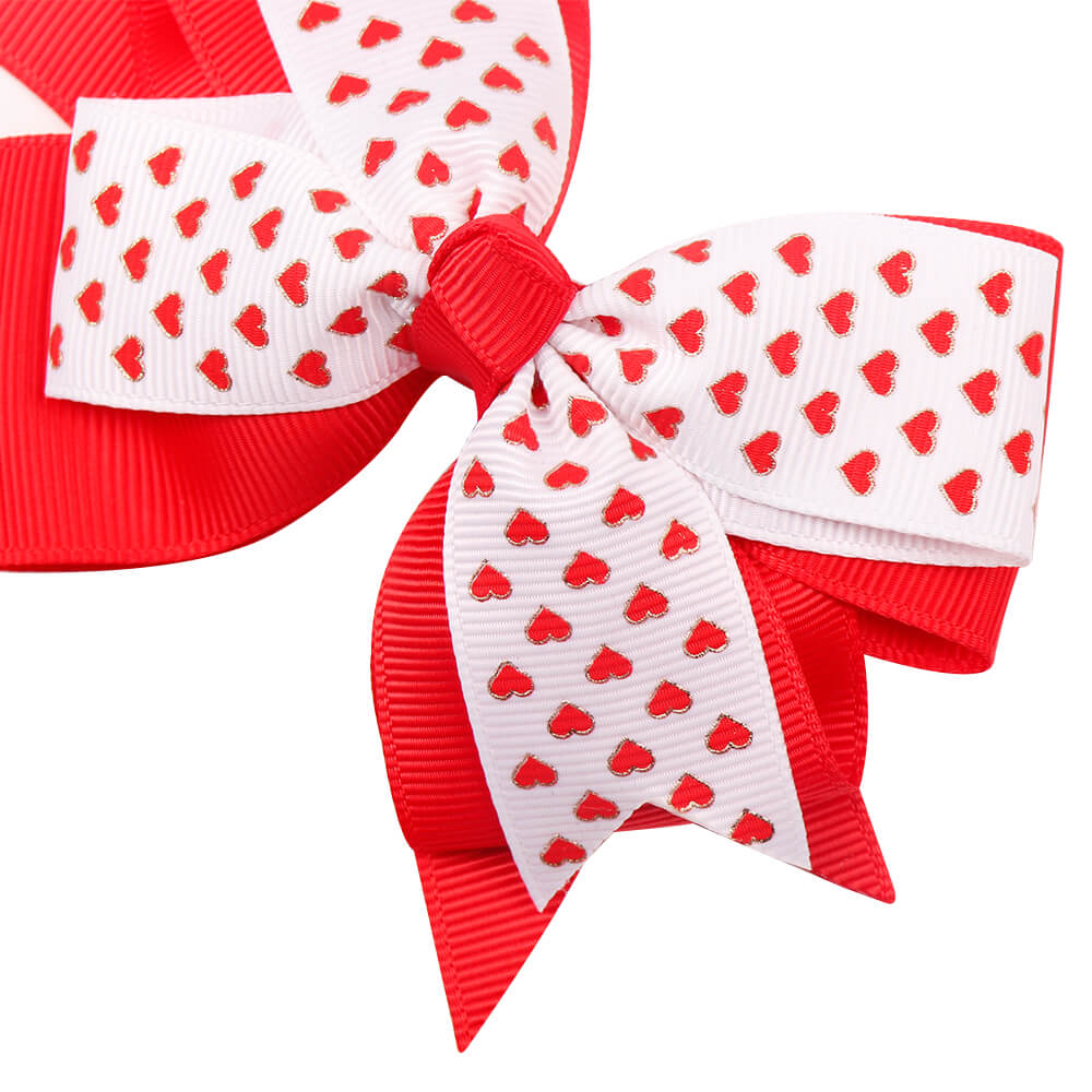 Valentine's Day Sweet Heart Hair Bows