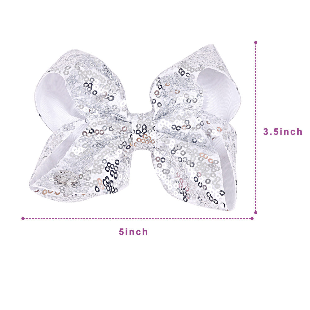 Sequin Jojo Hair Bows Set