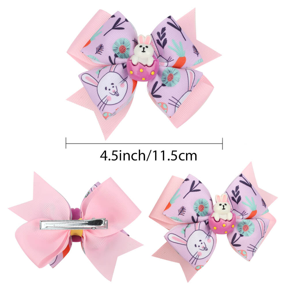 easter rabbit hair clips