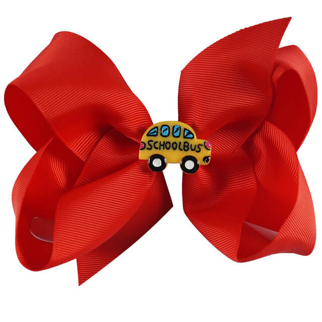 Back To School Solid Hair Bows