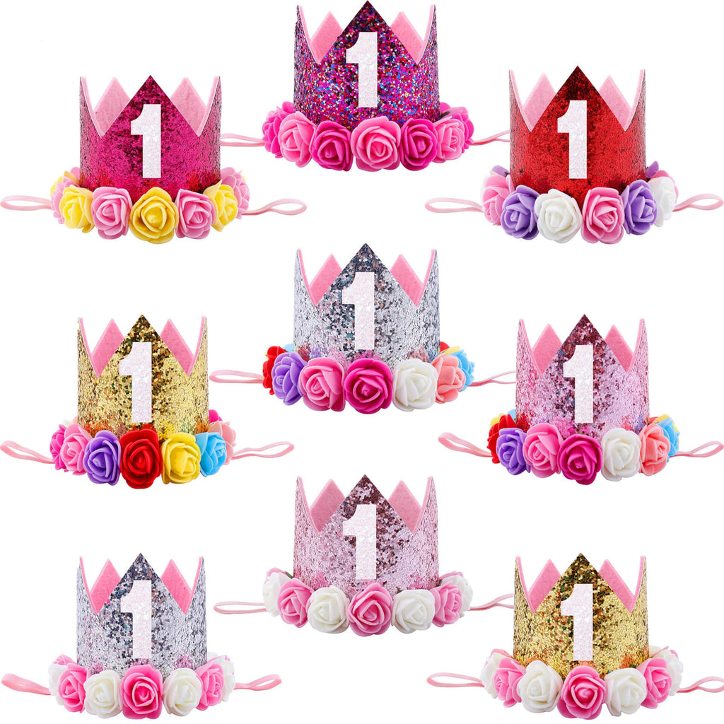 Fashion 1st Birthday Crown for Baby Girl