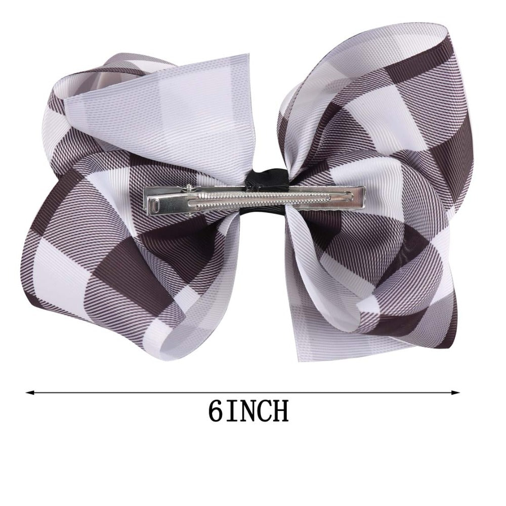 Buffalo Plaid Hair Bows