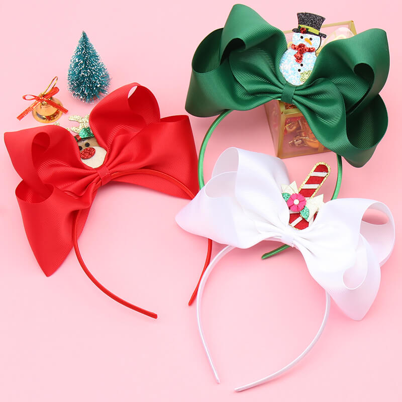 Big Hair Bows Christmas Headband