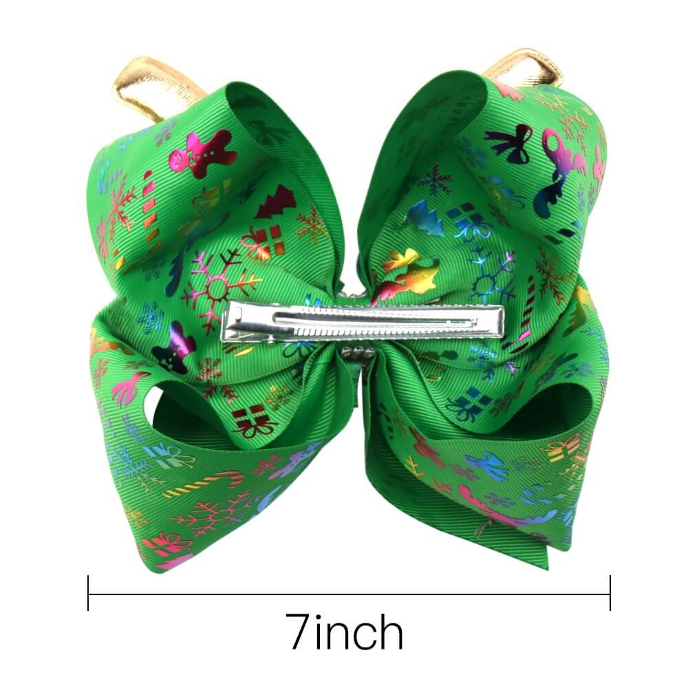 Christmas Reindeer Jojo Hair Bows