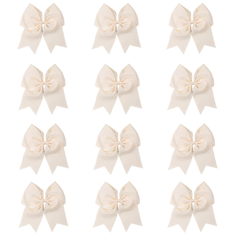 "12pcs/lot 7"" Large Cheer Bows for Cheerleading Teen Girls"