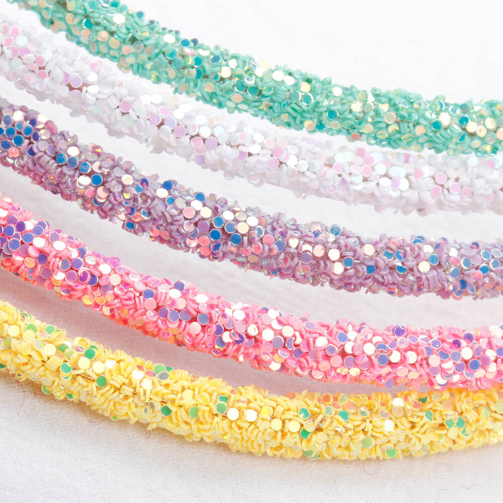 Girls Glitter Hairbands | Candy Color Sparkle Headbands