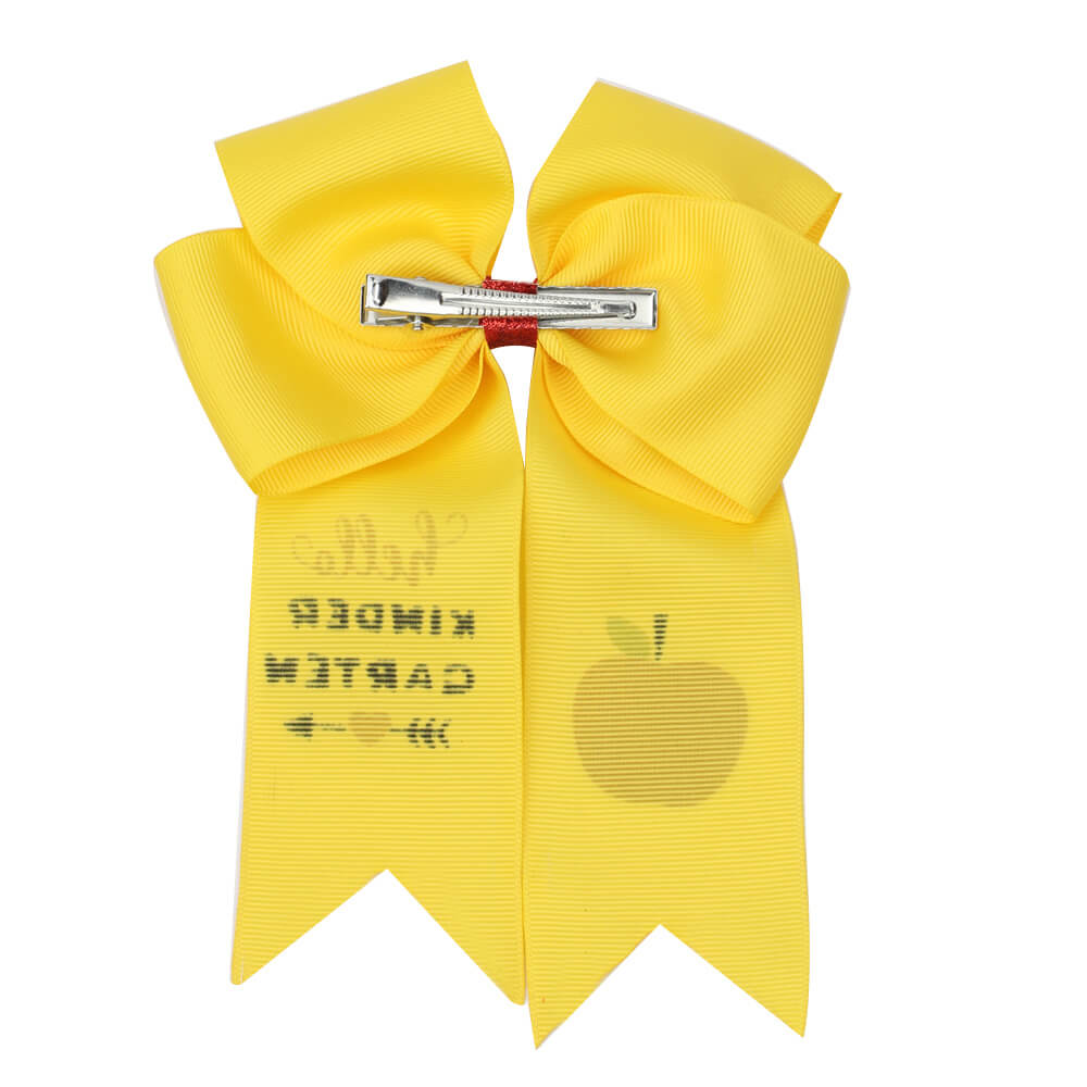 Back to School Cheer Bow with Clip