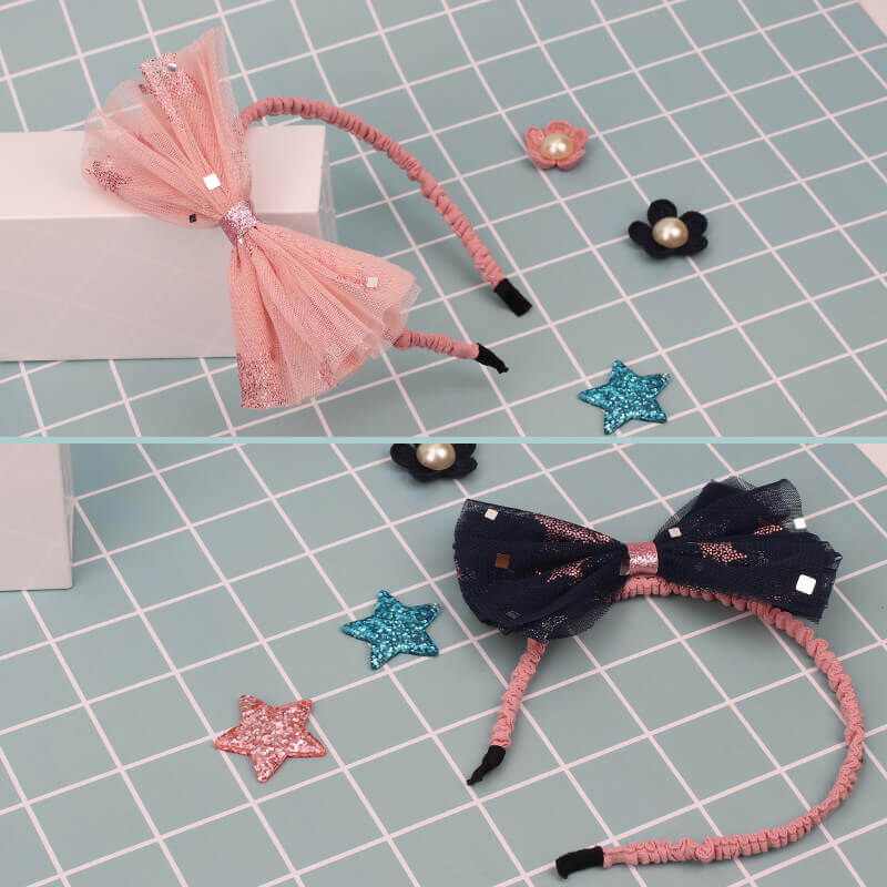 Double Layer Tulle Bow Headbands