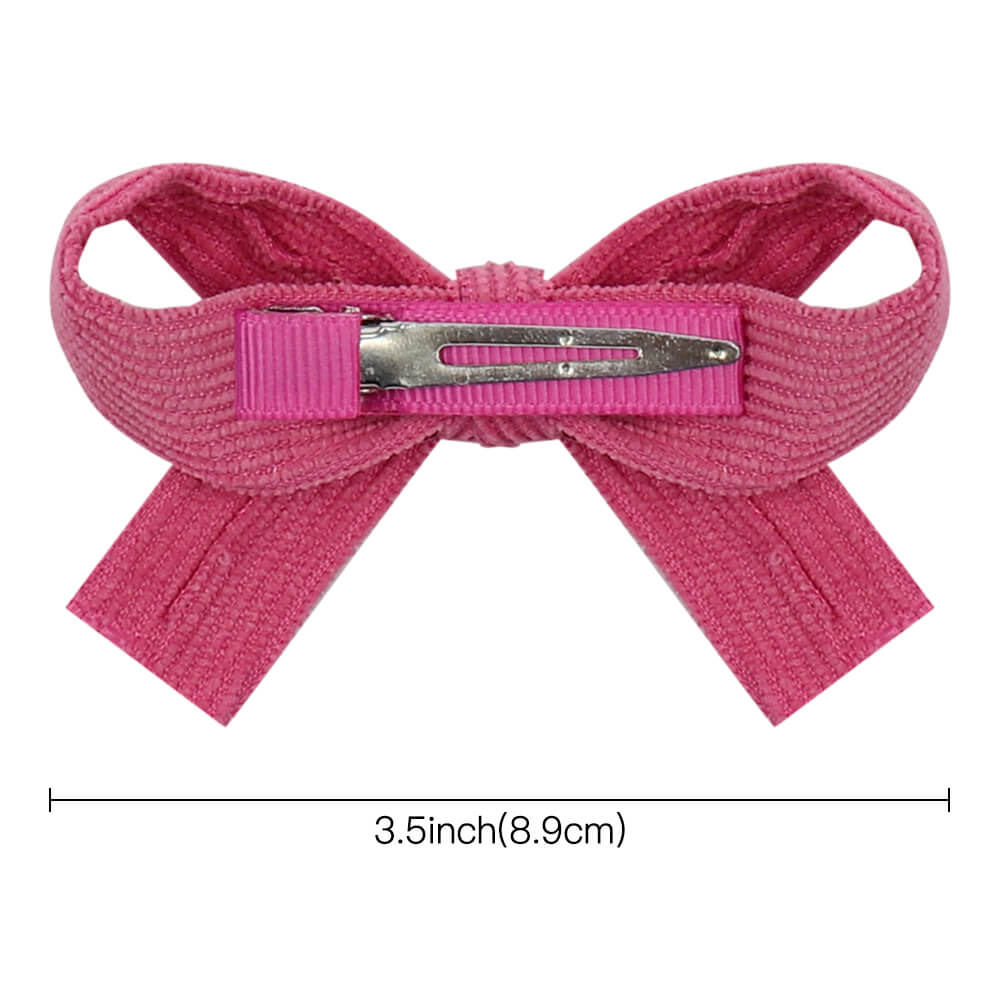 Corduroy Mini Hair Bows Clips