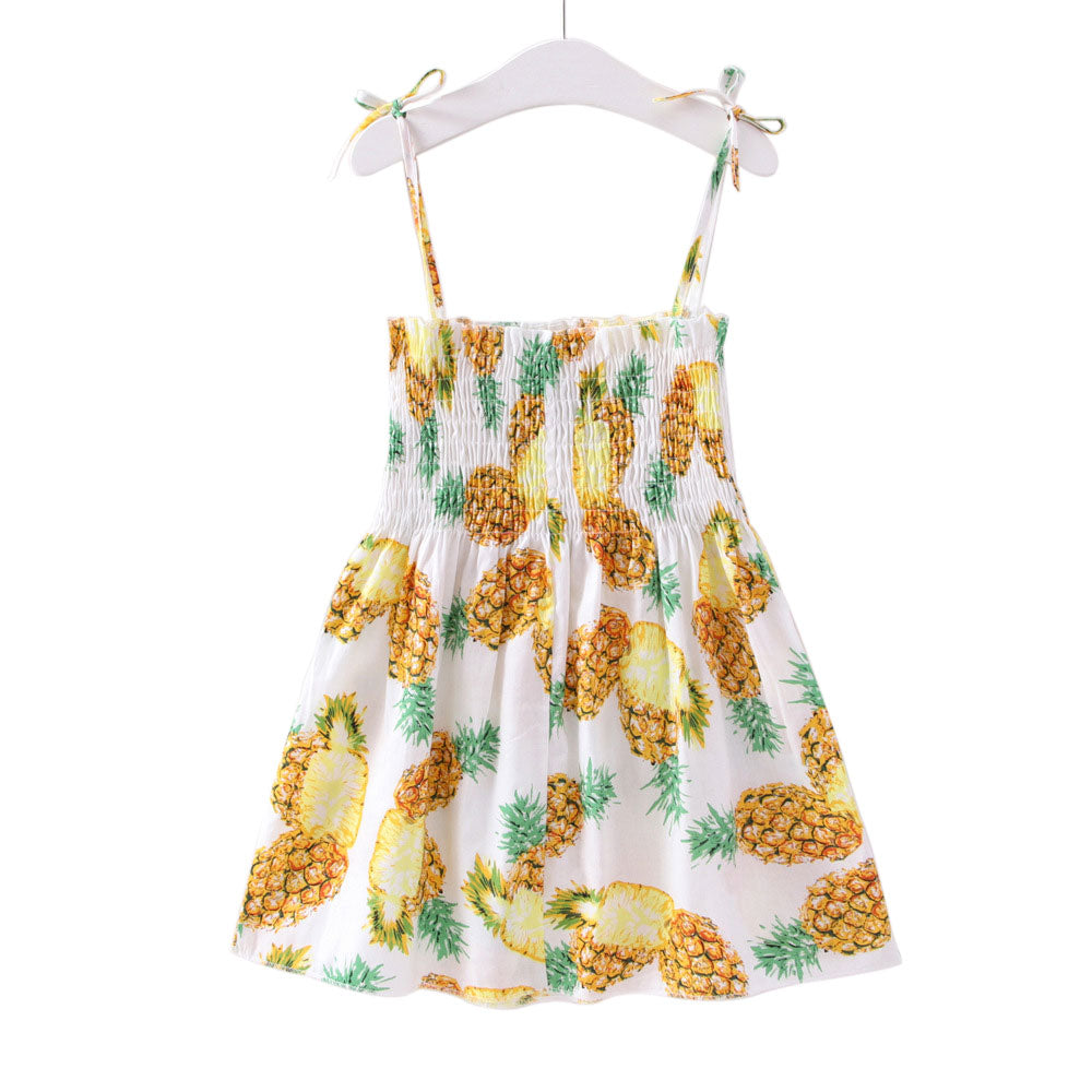 Girls Pineapple Print Sundress