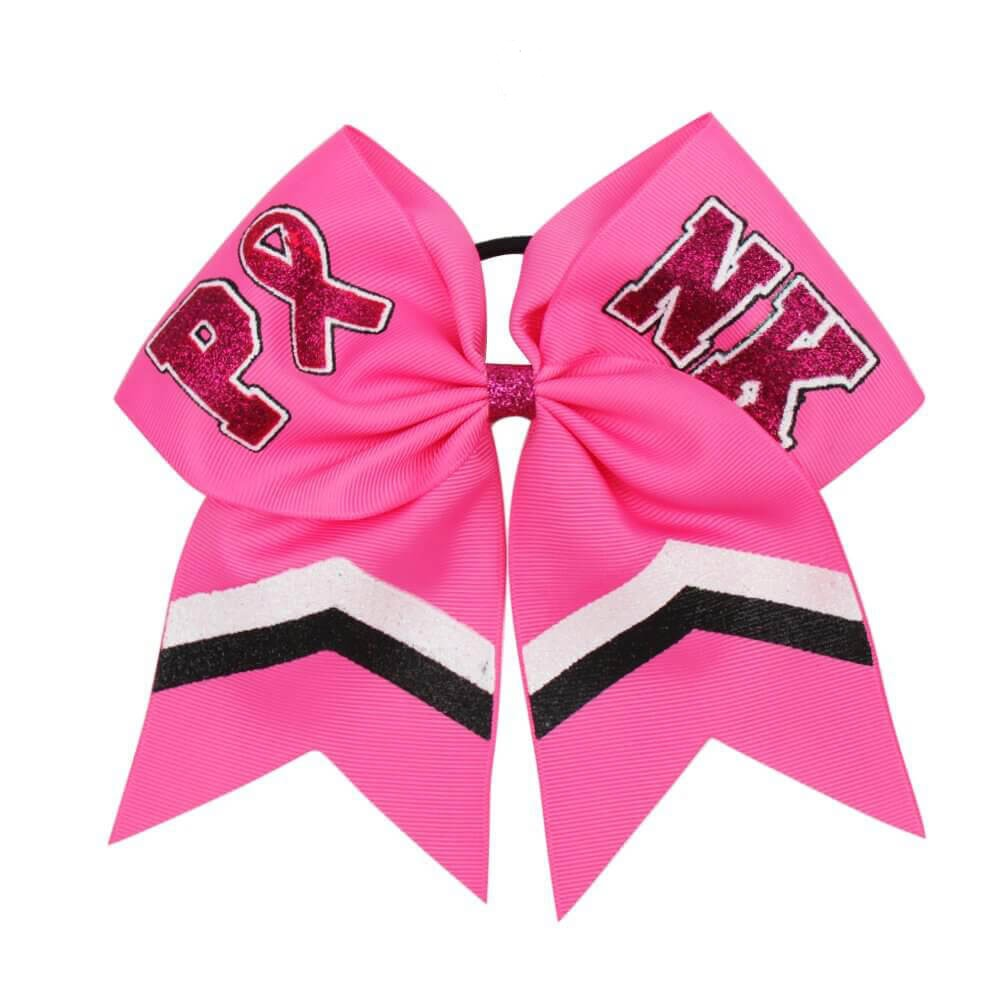 Breast Cancer Awareness Glitter Cheer Bows