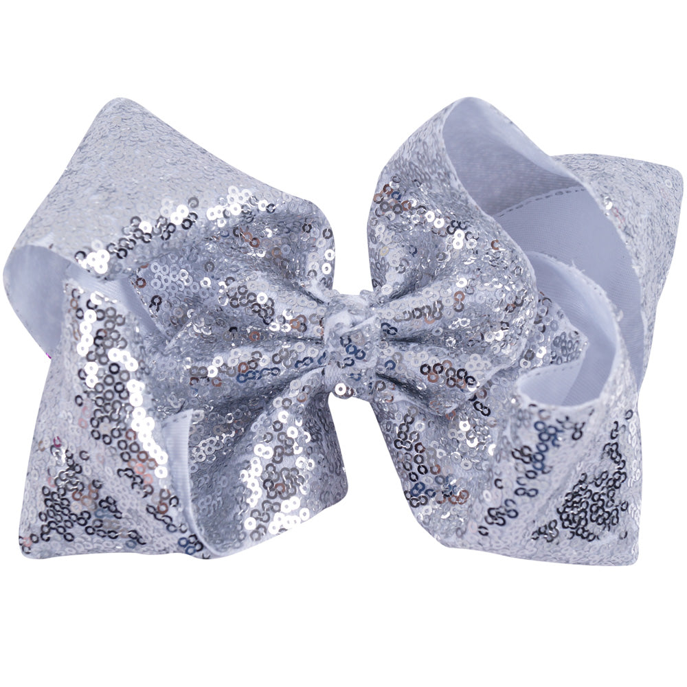 Jumbo Sequin Hair Bows (23 Color Available)