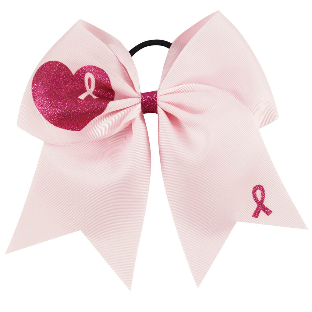 Pink Breast Cancer Awareness Cheer Bows